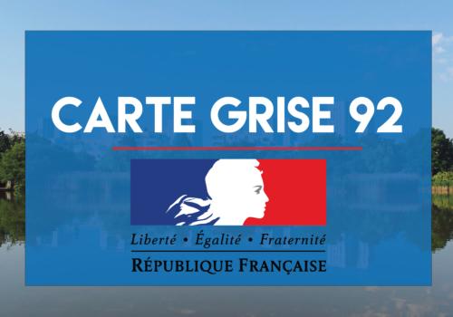 Carte grise 92 en ligne Hauts de Seine